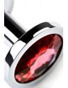 Анальная втулка TOYFA A-Toys из силикона фиолетовая /10,2х2,5см/