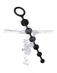 Эрекционное кольцо Toyfa XLover с клиторальным стимулятором черное
