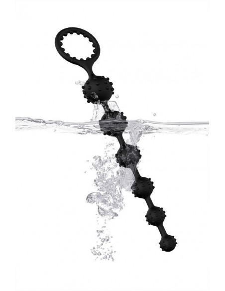Виброкольцо Toyfa XLover, черное, прозрачное /7х3,5см/