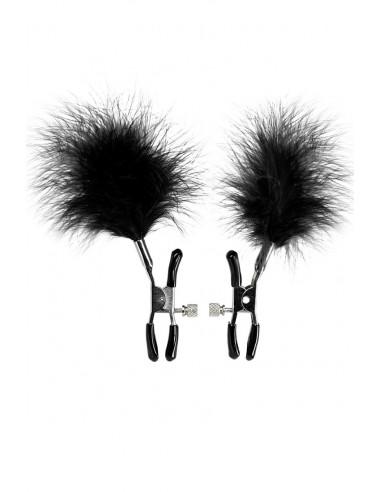 Пэстисы (наклейки на соски) Erolanta Lingerie Collection в форме сердец с кружевом черные